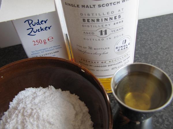 Plätzchen Whiskyglasur Glasur