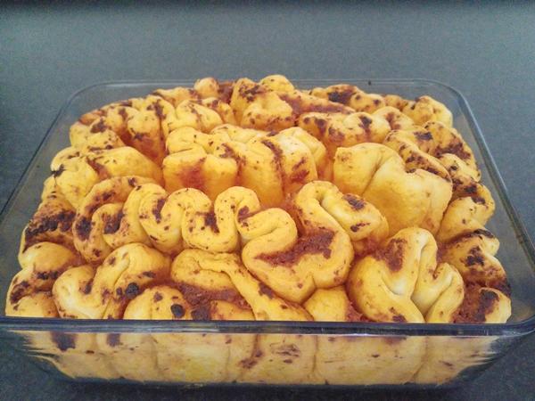 Faltenbrot 7 gebacken